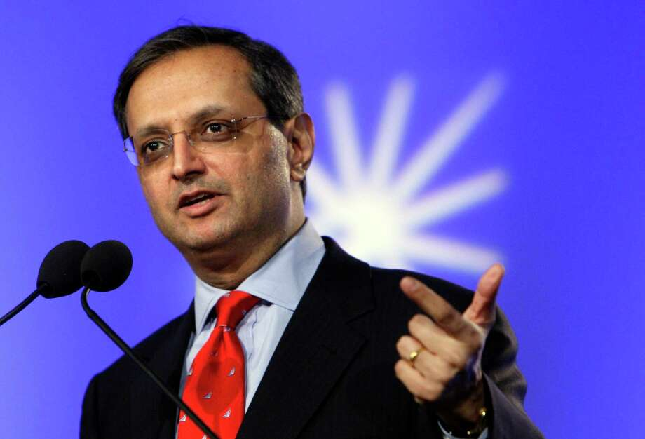 FILE - In this June 15, 2009, file photo,  Citigroup CEO Vikram S. Pandit speaks at the National Summit in Detroit. Pandit abruptly severed his ties with Citigroup on Tuesday,  Oct. 16, 2012, stepping down as CEO and a director, after steering the bank through the 2008 financial crisis and the choppy years that followed.  (AP Photo/Carlos Osorio) Photo: Carlos Osorio