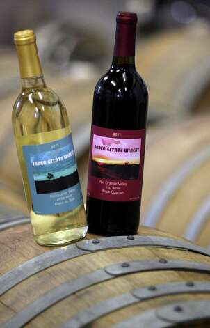 Jaber's winery offers white and red wines.  Jaber is considered the first in the area to grow grapes and convert that fruit himself into wine for commercial consumption. Photo: Delcia Lopez, For The Express-News / DELCIA LOPEZ PHOTOGRAPHY©
