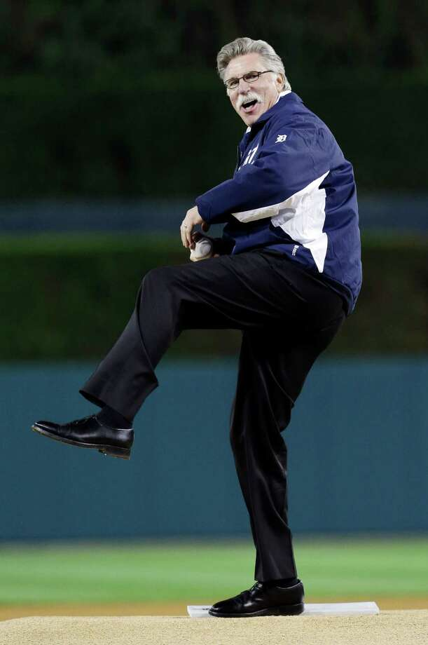 Former Detroit Tigers pitcher Jack Morris throws out the ceremonial first pitch before Game 3 of the American League championship series between the Detroit Tigers and New York Yankees Tuesday, Oct. 16, 2012, in Detroit. (AP Photo/Paul Sancya ) Photo: Paul Sancya, Associated Press / AP