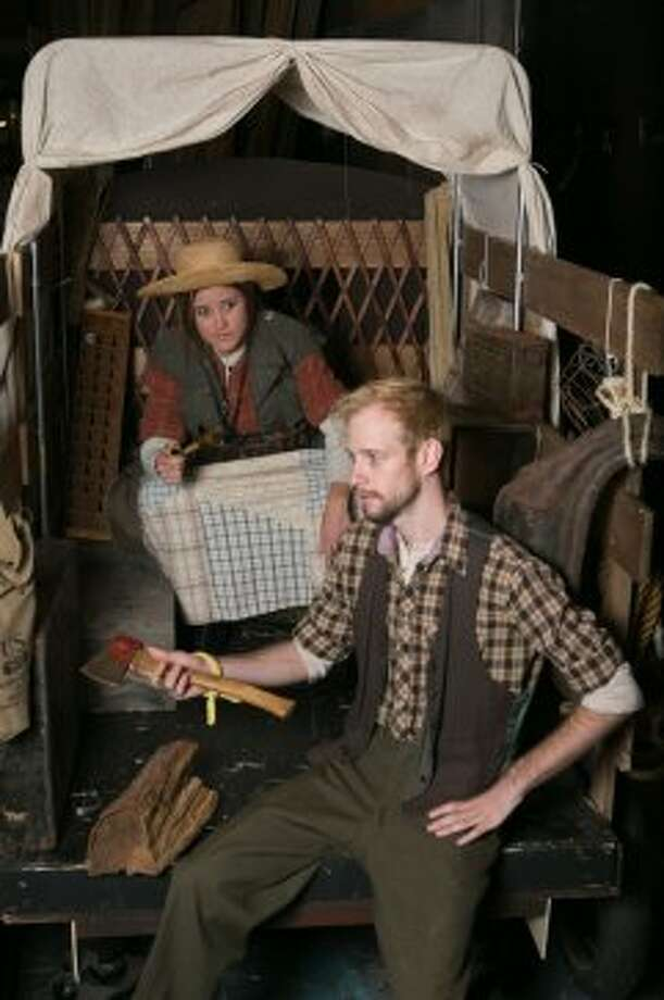 Shannon Hill as Mother Courage, Josh Hoppe as Chaplain