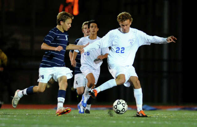 Boys soccer action between Fairfield Ludlowe and Staples in Fairfield, Conn. on Tuesday October 16, 2012. Photo: Christian Abraham / Connecticut Post
