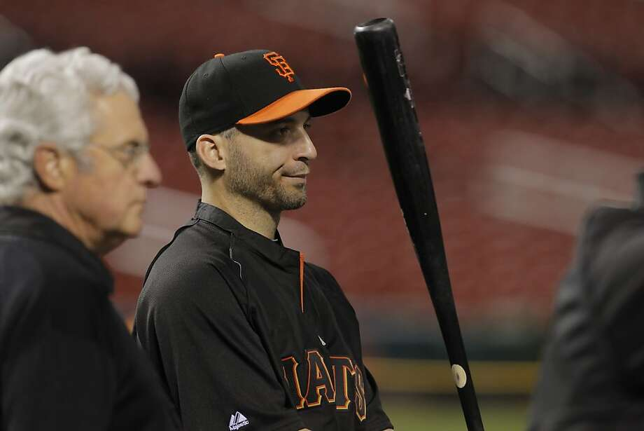 "Marco Scutaro was thankful Tuesday. ""I'm just happy nothing real bad happened,"" he said. Photo: Carlos Avila Gonzalez, The Chronicle"