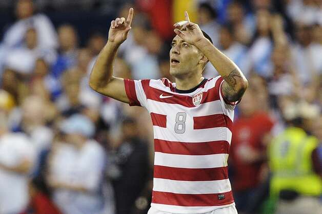 Clint Dempsey had plenty of chances to celebrate, scoring twice and assisting on a third goal. Photo: Reed Hoffmann, Associated Press