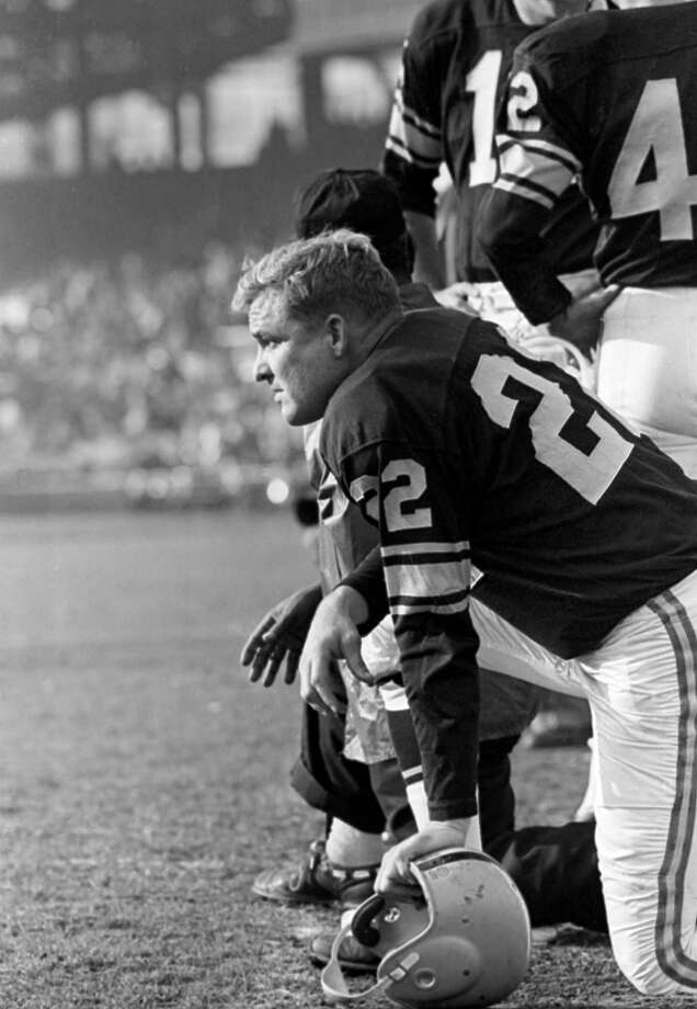 Bobby Layne: Five-time Pro Bowl selection and NFL 1950s All-Decade Team quarterback played for the Chicago Bears, New York Bulldogs, Pittsburgh Steelers, and most notably, the Detriot Lions, who retired his No. 22 jersey. Photo: Associated Press File Photo / 1962 AP