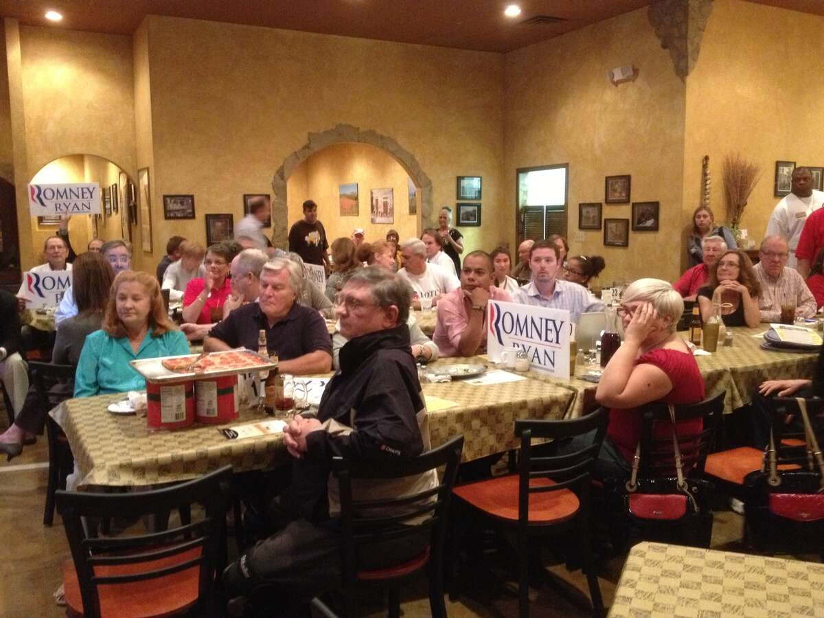 Dozens of GOP supporters monitored Tuesday's presidential debate at Pizzeria Venti in Helotes. The debate watch event was sponsored by the Republican Party of Bexar County.