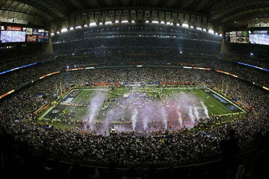 Houston's Reliant Stadium was the site of Super Bowl XXXVIII on Feb. 1, 2004, between Carolina and New England. Photo: Ronald Martinez, Getty Images / 2004 Getty Images
