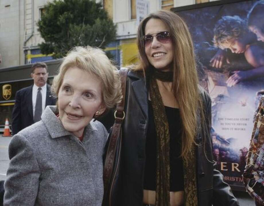 Nancy Reagan and daughter of Nancy and President Reagan, Patti Davis.