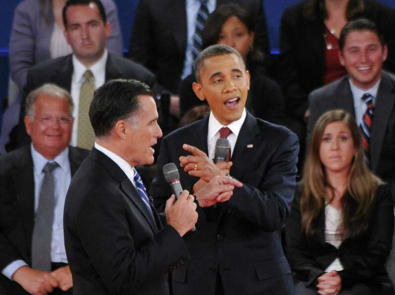 US President Barack Obama and Republican presidential candidate Mitt Romney both speak at the same t