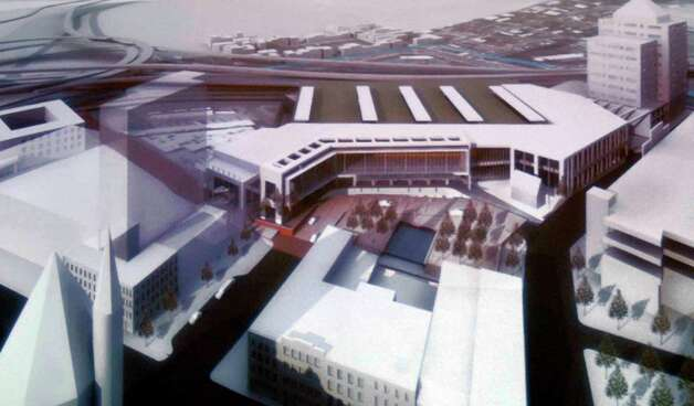 Artist rendering of The Albany Convention Center in Albany, New York 8/27/2009. (Michael P. Farrell / Times Union ) Photo: MICHAEL P. FARRELL, ALBANY TIMES UNION / 00005226A