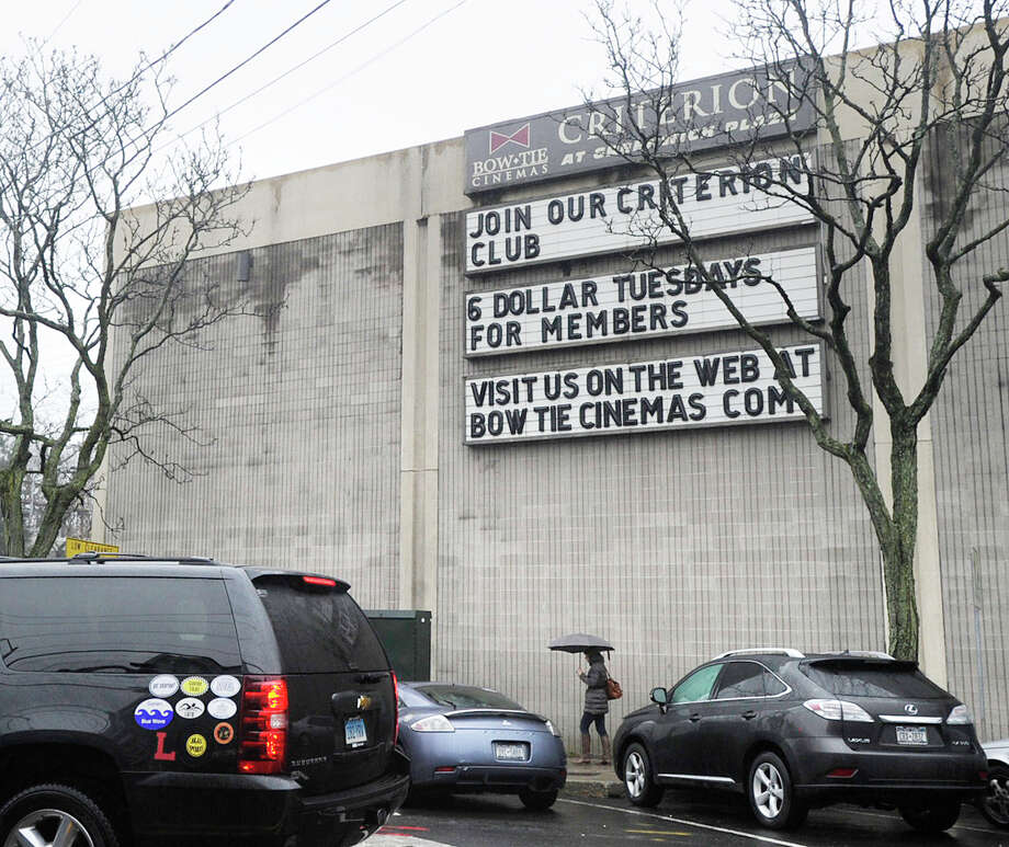 Pictured is the Bow Tie Cinemas Plaza 3 at 2 Railroad Ave. in Greenwich. It is one of several movie theaters where Anthony Johnson would  crawl around the floors removing credit cards from their purses, federal prosecutors allege. Johnson is on trial before U.S. District Judge Vanessa L. Bryant and a 12-member jury for eight charges of unauthorized use of credit cards and two charges of identity theft. Photo: Bob Luckey / Greenwich Time