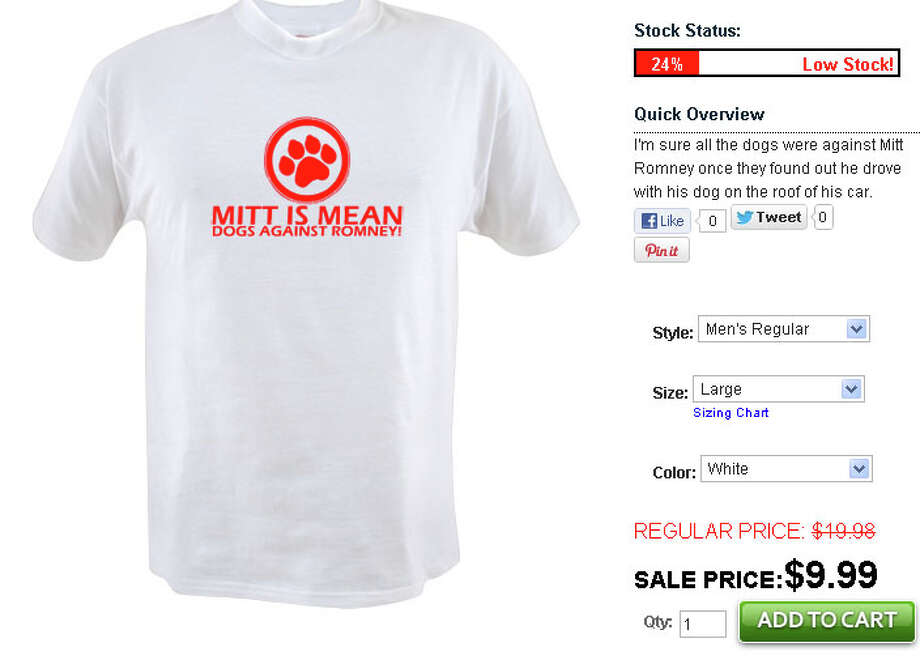 Mitt is Mean: Dogs Against Romney - $9.99 at betterthanpants.com.