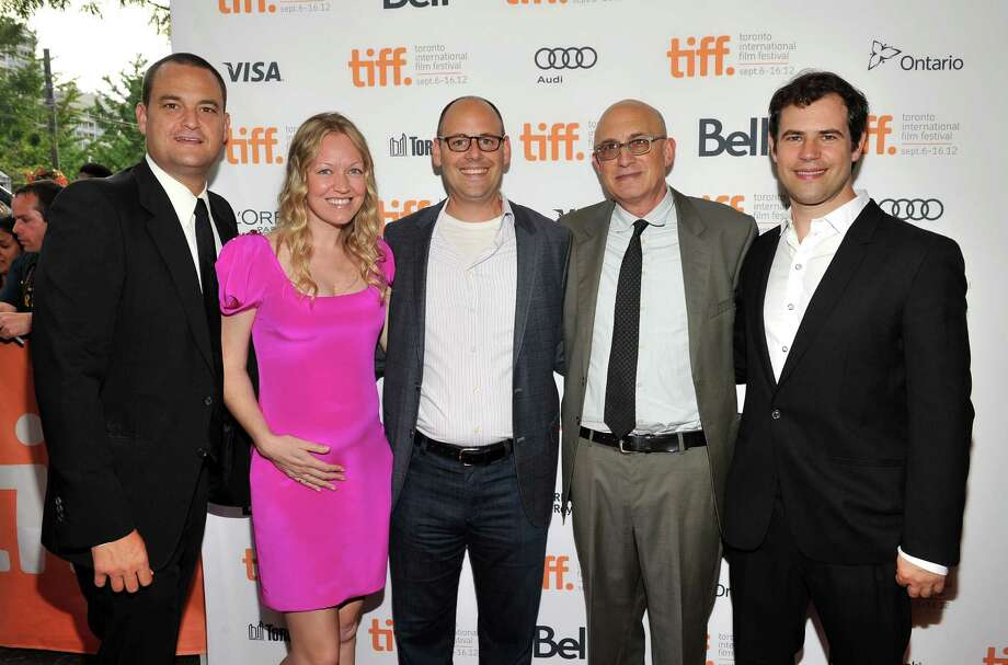 "TORONTO, ON - SEPTEMBER 07:  (L-R) Producers Jamie Patricof, Lynette Howel, Alex Orlovsky and guests attend ""The Place Beyond The Pines"" premiere during the 2012 Toronto International Film Festival at Princess of Wales Theatre on September 7, 2012 in Toronto, Canada.  (Photo by Sonia Recchia/Getty Images) Images) Photo: Sonia Recchia / 2012 Getty Images"