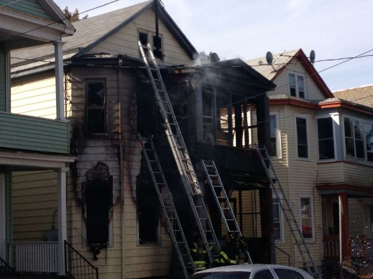 Site of a fire at 20 Benson St., Albany, on Wednesday, Oct. 17, 2012. (Bryan Fitzgerald/Times Union)