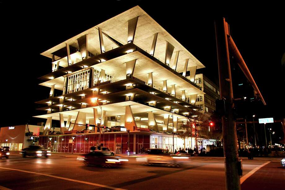 The 1111 Lincoln Road garage, developed by contemporary art collector Robert Wennett, in Miami Beach, Fla., Jan. 11, 2011. Wennett's garage appears to be an entirely new form of architecture for parking structures, resembling the most glamorous, upscale and stylish settings and competing for events with high-end hotel ballrooms, restaurant halls and catering outfits. (Michael McElroy for The New York Times) Photo: MICHAEL MCELROY, NYT / NYTNS