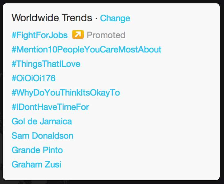At the beginning of the debate, the worldwide trending topics included ABC's White House corresponde