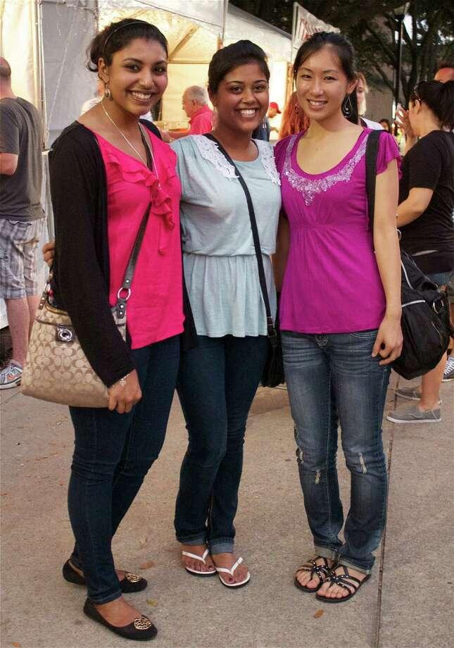 Joyce Chuen, from left, Tisha Jose and Deui Hari