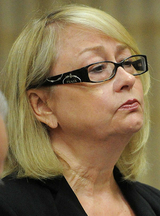 Karen Guillet, former Oxford tax collector will have her municipal pension revoked in full. Guillet, 63, pleaded guilty in July to a felony larceny charge and is facing up to five years in prison. Photo: Brian A. Pounds / Connecticut Post