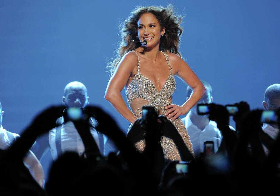 Jennifer Lopez is the latest star to suffer a wardrobe malfunction, which occurred in Italy on Oct. 11, 2012 during her world tour. Lopez was performing in this skin-tight catsuit (pictured from her show in Germany), when ... Photo: TIM BRAKEMEIER, AFP/Getty Images / 2012 AFP