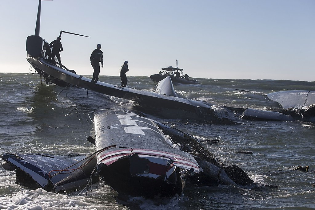 Towering America S Cup Boat Recovered Sfgate
