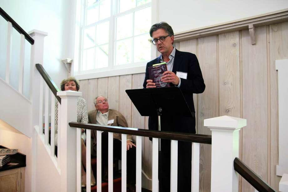 "Author Kurt Andersen read from his new novel, ""True Believers,"" at the Greenwich Arts Council's recent Literary Lights benefit. Photo: Contributed Photo"