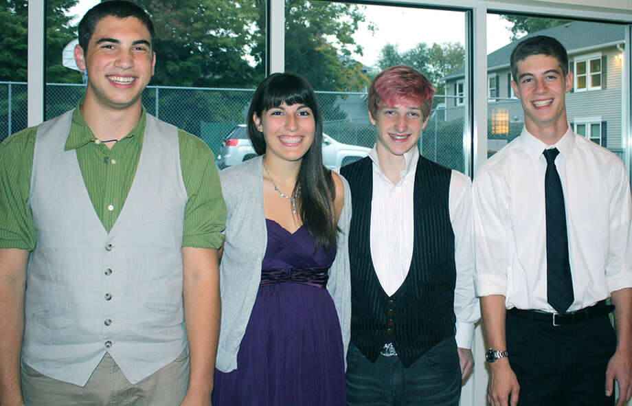 "Among the Greater New Milford area teens to be recognized Sept. 22 during the After School Arts Program's ""Celebration of Emerging Artists"" were, from left to right, Jimmy Pavlick of Litchfield, Emily Deanne of New Preston, Sebastian Taylor of Bridgewater and Tom Barkal of New Milford.  Courtesy of ASAP Photo: Contributed Photo / The News-Times Contributed"