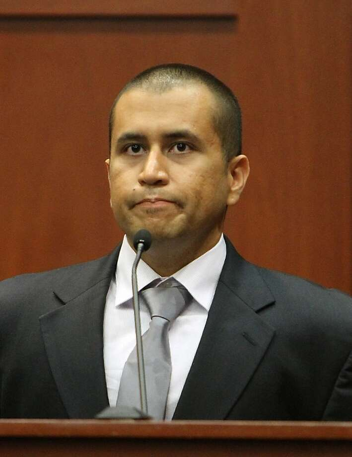 April 23, 2012 – Zimmerman enters a not guilty plea on reason of self defense and waves his right to an arraignment. He posts bail and is released, but will be taken back into custody a little more than a month later after authorities say he and his wife misrepresented their finances when asking for bond. Photo: Gary W. Green, AFP/Getty Images