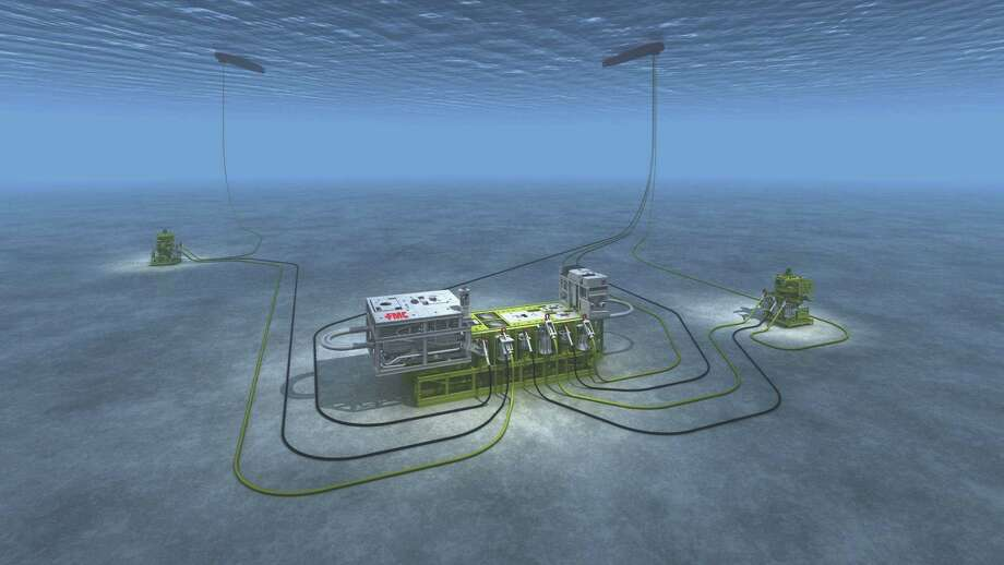 This subsea system from FMC Technologies separates heavy oil, gas, sand and water at a water depth of 2,950 feet. An official from FMC brought the idea of a subsea engineering graduate program to the University of Houston.