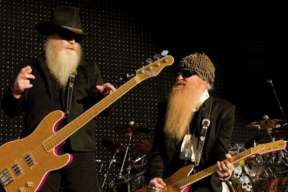 Not to be topped by Brian Wilson's beard, Houston's own ZZ Top has plenty of facial hair to go around. Photo: Brett Coomer, Houston Chronicle / Houston Chronicle