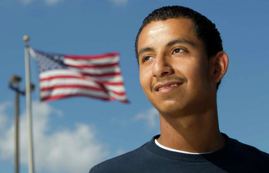 Saul Guillen, 20, is among the first applicants approved by the federal deferred action program. Photo: Brett Coomer / © 2012 Houston Chronicle