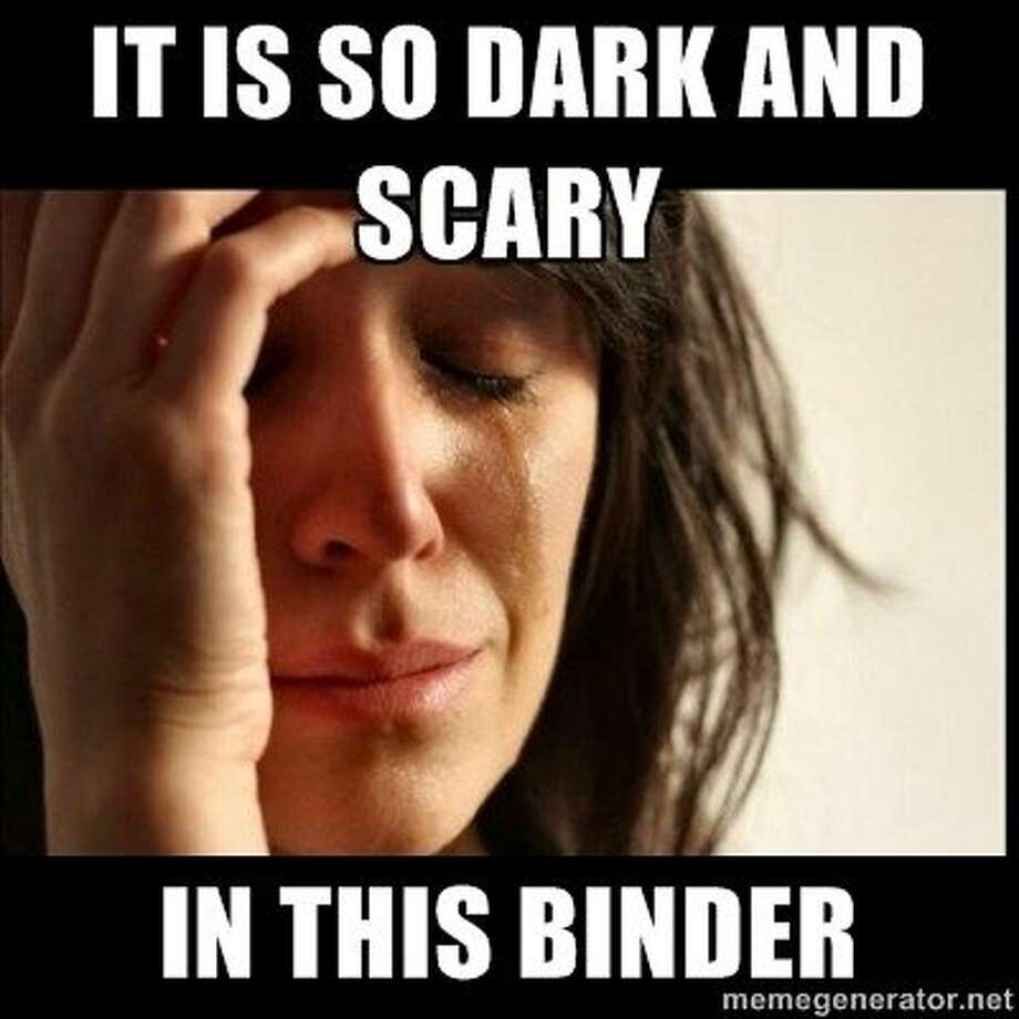"Another ""Binders full of women"" meme.  Photo: Bindersfullofwomen.tumblr.com"