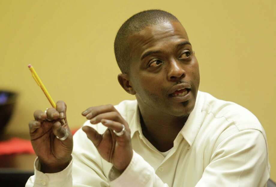 """Julius Bostic says Houston Outreach helped him prosper after once being homeless. """"I have a foundation for getting restarted,"""" he said. Photo: Melissa Phillip / © 2012 Houston Chronicle"""