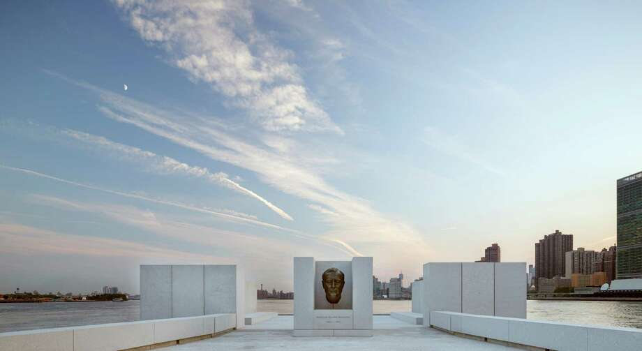 This Aug. 24, 2012 photo provided by FDR Four Freedoms Park LLC, shows the New York City memorial park, honoring President Franklin D. Roosevelt, that has been completed 40 years after the original design was created. The Franklin D. Roosevelt Four Freedoms Park on the southern tip of 2-mile-long Roosevelt Island  - between Manhattan and Queens -  is being dedicated Wednesday, Oct. 17, 2012, in a ceremony to be attended by dignitaries including former President Bill Clinton and Mayor Michael Bloomberg. (AP Photo/FDR Four Freedoms Park LLC, Paul Warchol) Photo: Paul Warchol