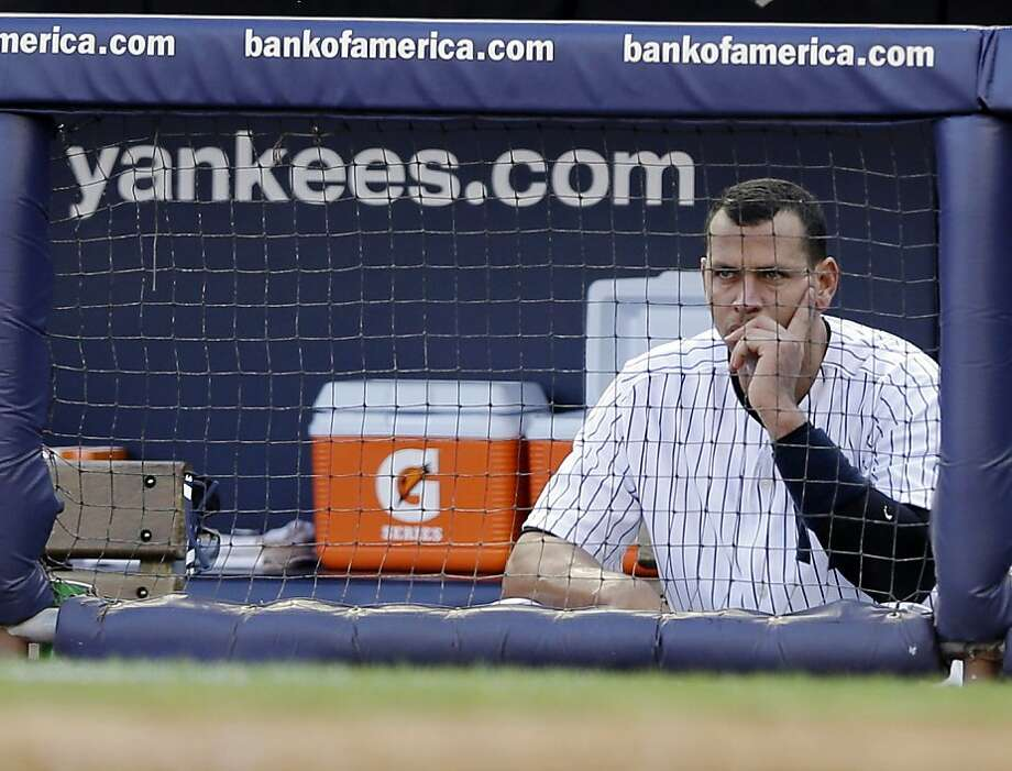 Alex Rodriguez was out of the lineup for the third time this postseason. Photo: Matt Slocum, Associated Press