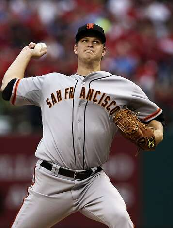 Giants' starting pitcher, Matt Cain, as the San Francisco Giants take on the St. Louis Cardinals in game three, of the National League Championship Series  which is tied at 1-1, on Wednesday Oct. 17, 2012. at Busch Stadium ,  in  St. Louis, Mo. Photo: Michael Macor, The Chronicle