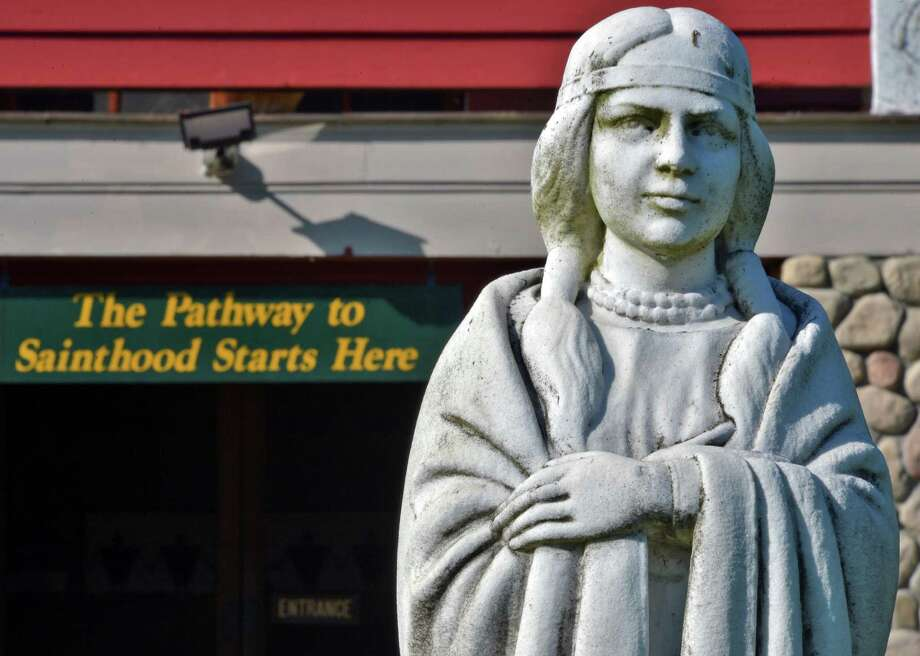 Statue of Kateri Tekakwitha at The National Shrine of St. Kateri Tekakwitha in Fonda Wednesday Oct. 17, 2012.  (John Carl D'Annibale / Times Union) Photo: John Carl D'Annibale / 00019706A