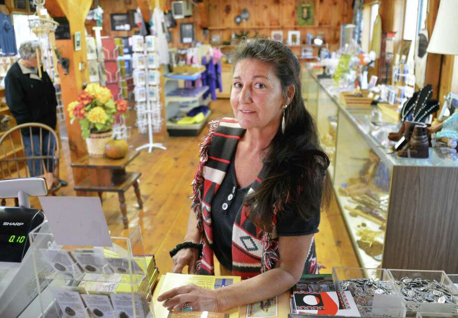 "Dawn ""Standing Woman"" Marczak in the gift shop at The National Shrine of St. Kateri Tekakwitha in Fonda Wednesday Oct. 17, 2012.  (John Carl D'Annibale / Times Union) Photo: John Carl D'Annibale / 00019706A"