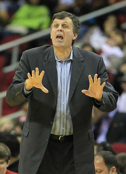 Houston's head coach Kevin McHale on the sidelines during the second half of an NBA preseason game a