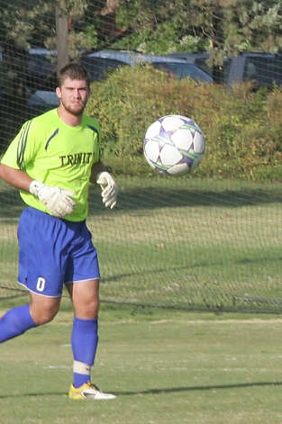 Trinity keeper Matt Cardone of MacArthur has recorded 36 saves and seven of the Tigers' nine shutouts. Photo: Courtesy Photo / Trinity Athletics