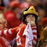 A young Cardinals fan watches in the final inning at Busch Stadium as the Cardinals beat the Giants 3-1. The San Francisco Giants played the St. Louis Cardinals in Game 3 of the National League Championship Series at Busch Stadium on Wednesday, October 17, 2012, in St. Louis, Mo.