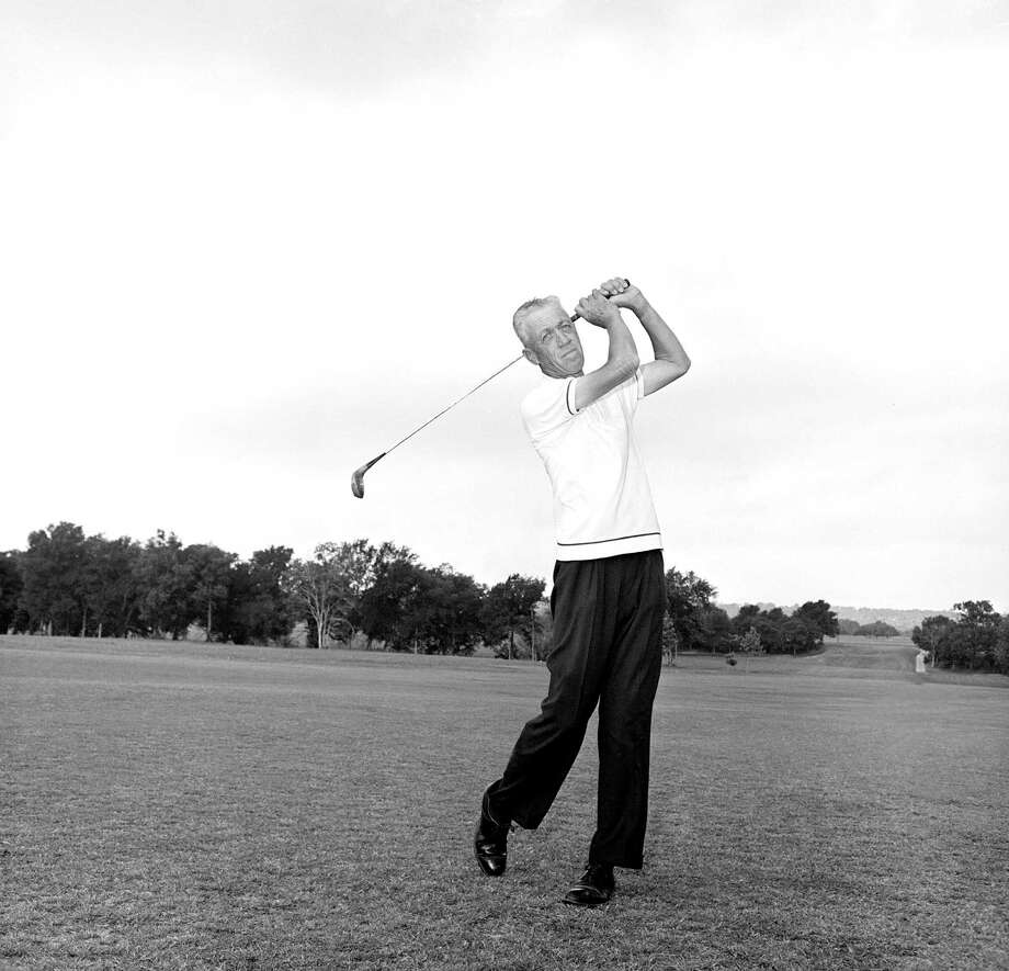 Harvey Penick: Coached the UT golf team to 21 titles in a little more than 30 years. Inducted into the World Golf Hall of Fame in 2002, and coached several other Hall of Famers, including fellow UT alums Tom Kite and Ben Crenshaw. Photo: Ted Powers, Associated Press / 1964 AP