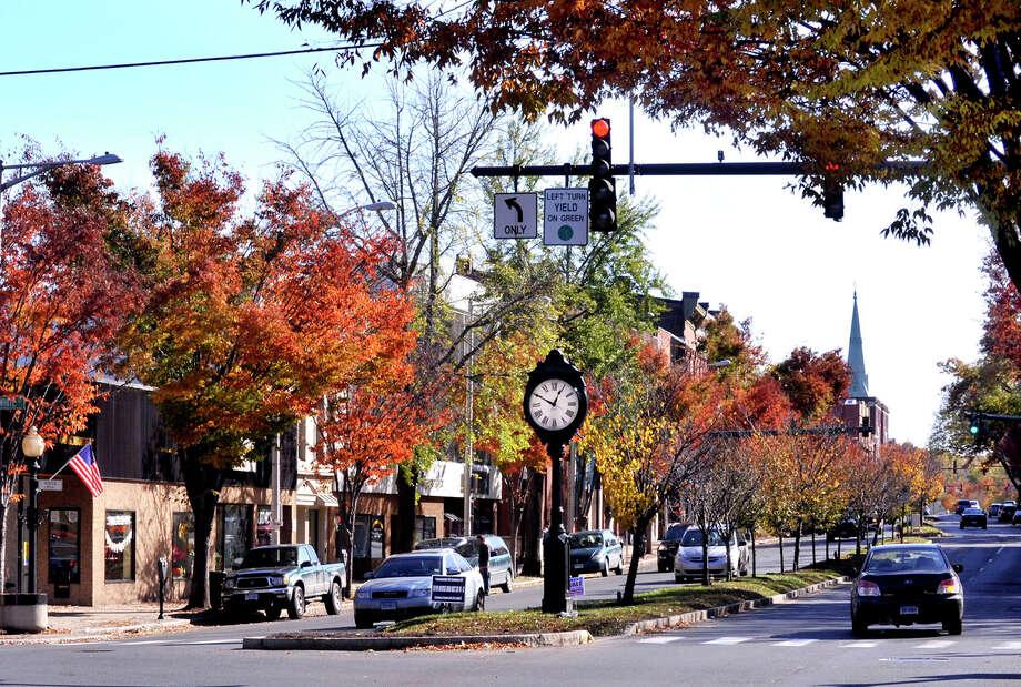 This is downtown Danbury. Photo: Michael Duffy