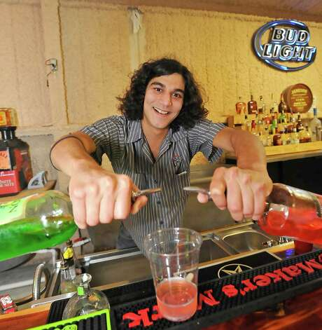 Tom Ramirez at Nutty Jerry's is Oct. 18 bartender of the week. He's the bar manager at Nutty Jerry's.   Dave Ryan/The Enterprise Photo: Dave Ryan
