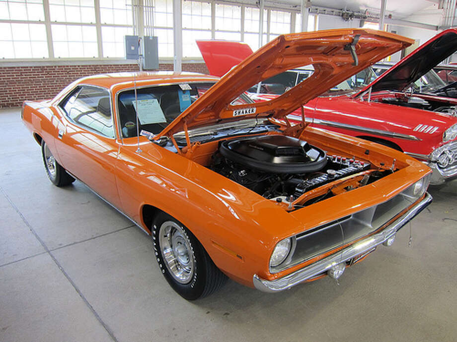 43. 1970 Plymouth Hemi 'Cuda: Plymouth dropped a Hemi V8 engine into its 1970 Barracuda model to create the Hemi 'Cuda. Since then, the model has been an icon from the muscle car era. (Photo: Mobilene, Flickr) Photo: .