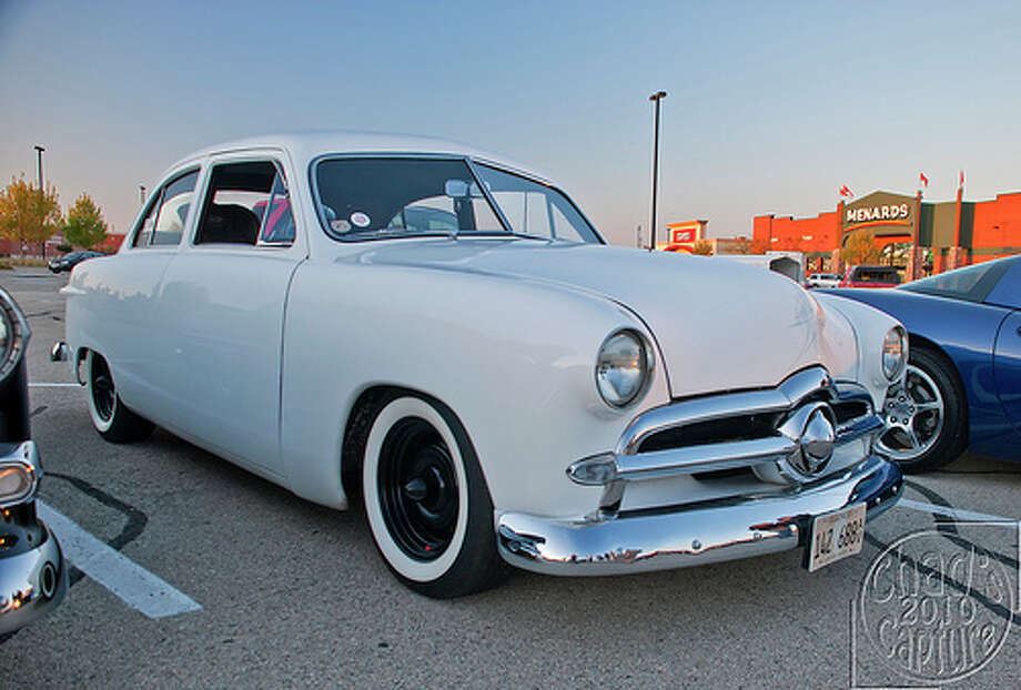 24. 1949 Ford: The 1949 Ford would set the style for post-war design with its lower body. The car would also ditch running board and fenders. (Photo: Chad Horwedel, Flickr) Photo: Chad Horwedel, . / Chad's Capture