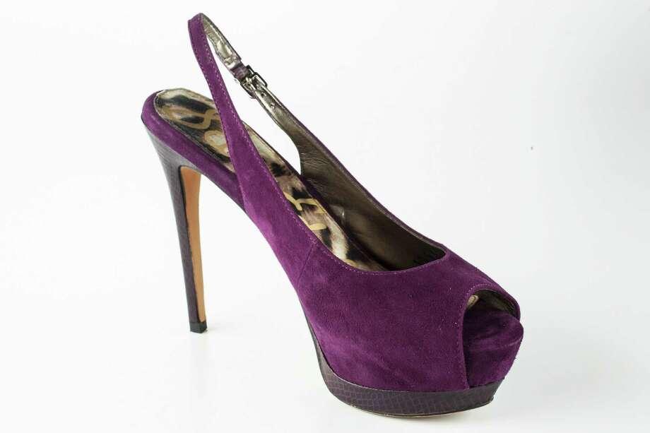 Sam Edelman's purple suede slingbacks, $129, Nordstrom. Photo: Michael Paulsen / © 2012 Houston Chronicle