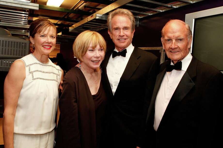 Actors Annette Bening, Shirley MacLaine, Warren Beatty and McGovern backstage during the 36th AFI Life Achievement Award tribute to Warren Beatty held at the Kodak Theatre on June 12, 2008, in Hollywood. Photo: Kevin Winter, Getty / 2008 Getty Images