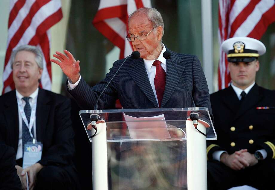 McGovern speaks during the National World War II Museum Dedication Ceremony on Nov. 6, 2009, in New Orleans. Photo: Sean Gardner, Getty / 2009 Getty Images