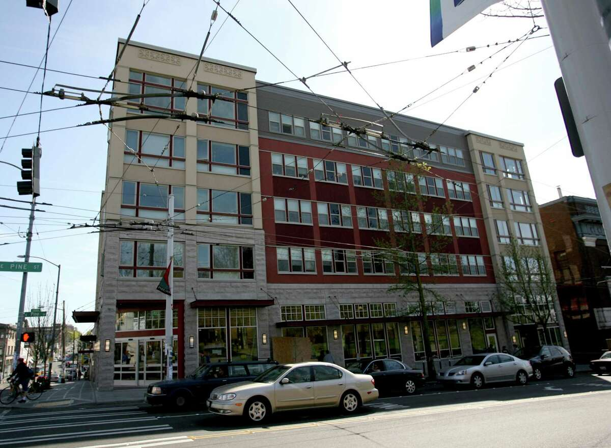 Housing agencies have also stepped in to build affordable apartments in walkable neighborhoods near job centers. This is Capitol Hill Housing's Broadway Crossing building, shown just after its completion in 2007.