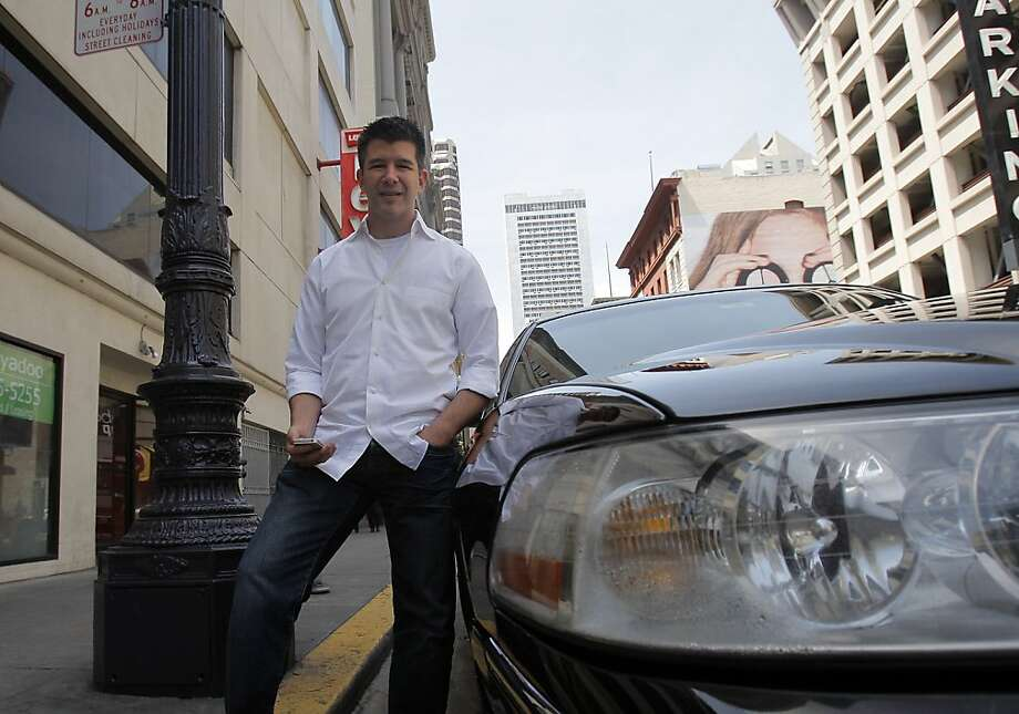 Uber CEO Travis Kalanick says the taxi app is different because it works with drivers licensed to carry commercial passengers. Photo: Siana Hristova, The Chronicle