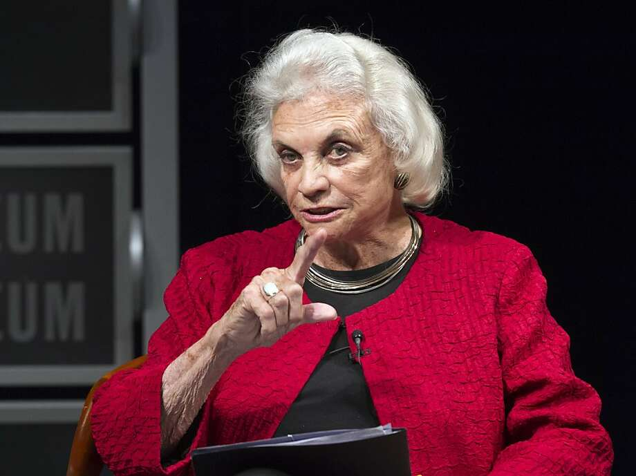 Former Supreme Court Justice Sandra Day O'Connor speaks during a forum to celebrate the 30th anniversary of O'Connor's appointment to the Supreme Court, at the Newseum in Washington, Wednesday, April 11, 2012.   (AP Photo Manuel Balce Ceneta) Photo: Manuel Balce Ceneta, Associated Press